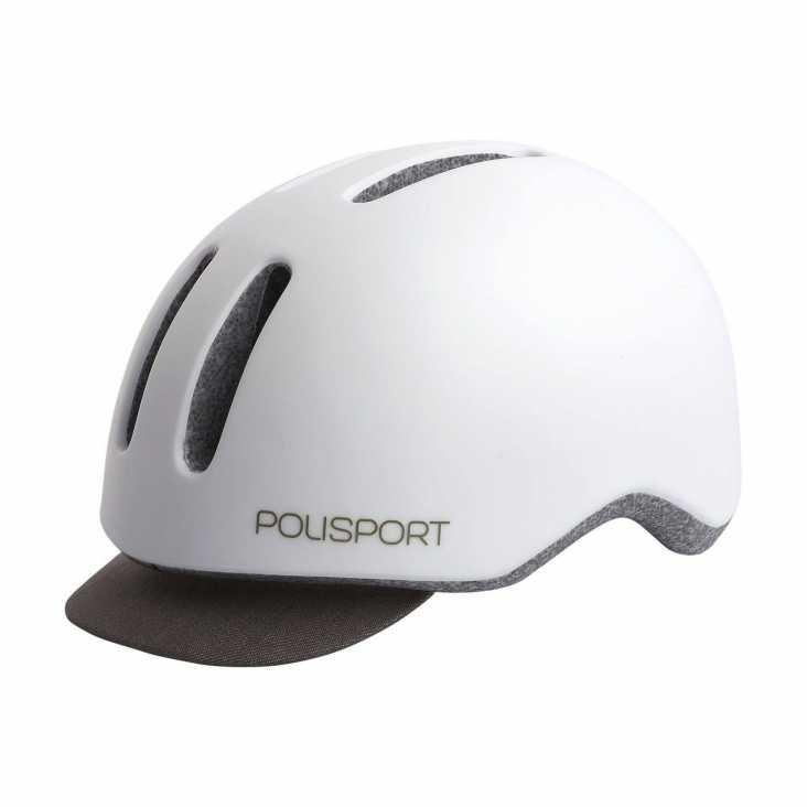 Casque Vélo Polisport Commuter Blanc/Gris Avant