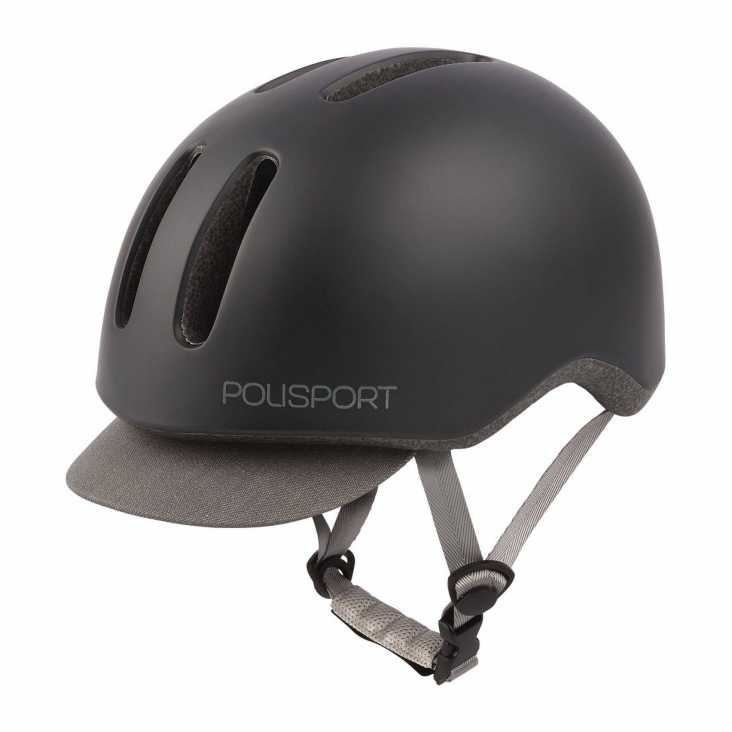 Casque Vélo Polisport Commuter Noir/Gris Avant