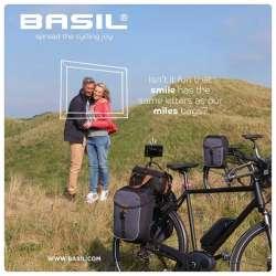 Sacoche BASIL Miles Double Bag Gris Photo