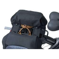 Sacoche BASIL Miles Double Bag Gris Monté Porte Bagage