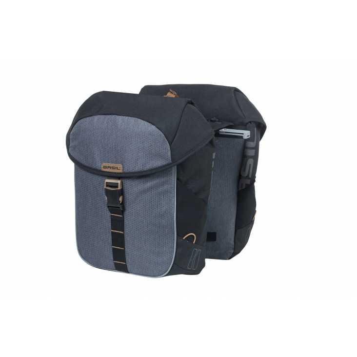 Sacoche BASIL Miles Double Bag Gris 34L
