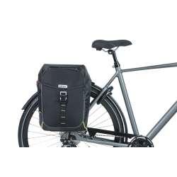 Sacoche BASIL Miles Double Bag Noir Monté Vélo