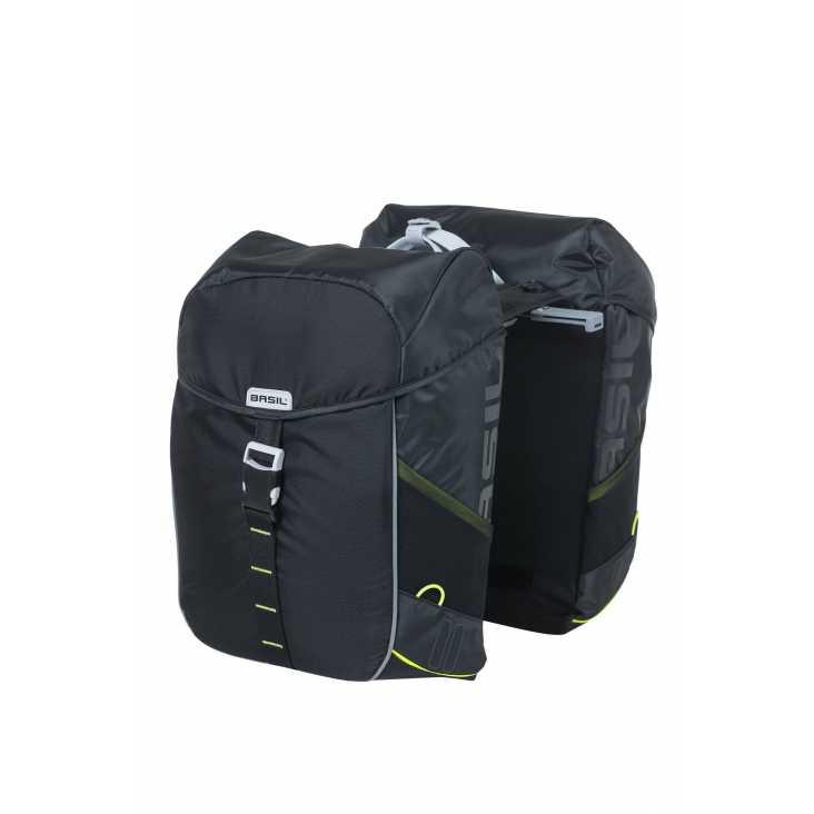 Sacoche BASIL Miles Double Bag Noir 34L