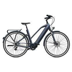 VÉLO ÉLECTRIQUE 2021 O2feel iSwan Urban Boost 6.1 Gris Anthracite