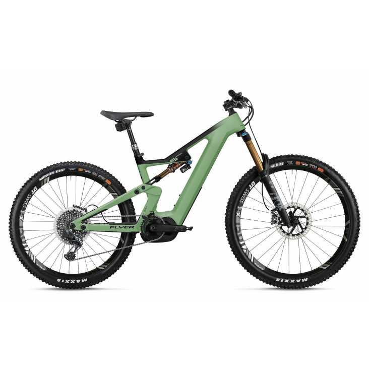 VTT ÉLECTRIQUE 2021 FLYER E-Bike Uproc6 9.50 Vert/Noir
